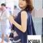 เสื้อแฟชั่น Floral Embroidery Sleeveless Blouse - สีกรม thumbnail 4