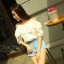 เสื้อแฟชั่น Frill-Trim Lace Cut-Out Cotton Blouse thumbnail 2