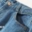 ยีนส์ขาม้าใหญ่ Fray-Hem Wide Boot-cut Jeans thumbnail 10
