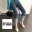 กางเกงยีนส์แฟชั่นปลายขาพับ สไตล์เกาหลี STYLERICH BY KOREA thumbnail 8