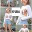เสื้อแฟชั่น Fiona Embroidery Spaghetti Strap Crop สีดำ thumbnail 2