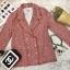 เบลเซอร์ Blazer Tweed Blouse สีแดง thumbnail 11