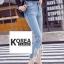กางเกงยีนส์แฟชั่น Frey-Hem Boot-Cut Jeans สีเข้ม thumbnail 3
