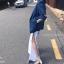 กางเกงผ่าข้าง Korea Slit-hem Pants สีดำ thumbnail 5