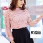 เสื้อแฟชั่น Elegance Lace Blouse by ChiCha's สีขาว thumbnail 5