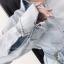 เสื้อยีนส์ Korea washed denim shirt wt belt thumbnail 5
