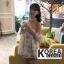 เสื้อแฟชั่น Floral Print Off-Shoulder Organza Balloon-Sleeve Top thumbnail 4