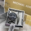 MICHAEL KORS Channing Midnight Blue Shimmer Dial Stainless Steel Ladies Watch MK6113 + Bracelet Set thumbnail 1