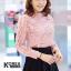 เสื้อแฟชั่น Elegance Lace Blouse by ChiCha's สีขาว thumbnail 6
