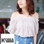 เสื้อแฟชั่น Fuffing Off-shoulder Blouse thumbnail 4