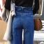 กางเกงยีนส์ Wide led Cut Hem Dark Jeans thumbnail 5