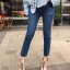กางเกงยีนส์ Cut Out Slim Fit Dark Denim thumbnail 2