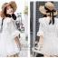 เสื้อลูกไม้ Embroidered Lace Midi Dress thumbnail 3