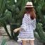 เสื้อแฟชั่น Boho Stripe wt Fringe Top thumbnail 5