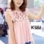 เสื้อแฟชั่น Zara Sweet Floral Embroidery Blouse thumbnail 3