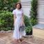 แม็กซี่เดรส Preedeematter Maxi Dress สีขาว thumbnail 3