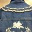 เสื้อแจ็คเก็ตยีนส์ Embroidery Pearl Neck Denim Jacket thumbnail 8