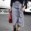 กระโปรงแฟชั่น Embellished Check Midi Skirt thumbnail 9