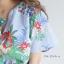 เสื้อแฟชั่นNanda Striped Floral Bowtie thumbnail 5
