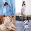 เดรสเชิ้ตลายริ้ว Cutout Shoulder Stripe Dress Shirt thumbnail 5