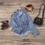 เสื้อยีนส์ Korea washed denim shirt wt belt thumbnail 7