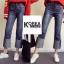 กางเกงยีนส์แฟชั่นปลายขาพับ สไตล์เกาหลี STYLERICH BY KOREA thumbnail 5