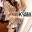 เสื้อแฟชั่นคอวี V-Neck Ruffle-Hem Chiffon Top thumbnail 5
