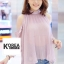Very Pleaty Cut-Shoulder Blouse by ChiCha's thumbnail 3