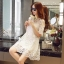 ชุดเดรสแฟชั่น Lilly Cut Shoulder Lace Dress by ChiCha's สีขาว thumbnail 4