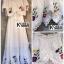แม็กซี่เดรส Embroidery Floral Maxi Dress thumbnail 12