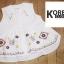เสื้อแฟชั่น Floral Embroidery Sleeveless Blouse - สีกรม thumbnail 5