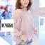 Very Pleaty Cut-Shoulder Blouse by ChiCha's thumbnail 5