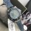 GUESS Women's Sky Blue Sparkle Denim Leather Strap Watch 39mm U0775L1 thumbnail 3