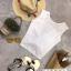 เสื้อแฟชั่น Single Pocket Twisted Back Sleeveless Crop thumbnail 6