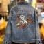 แจ็คเก็ตยีนส์ Sly Flyfirst Embroidery Vintage Denim Jacket thumbnail 8