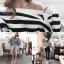 เสื้อเปิดไหล่ Stripe OpenShoulder BellSleeves Top thumbnail 4