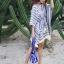 เสื้อแฟชั่น Boho Stripe wt Fringe Top thumbnail 3
