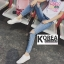 กางเกงยีนส์ Embellished Skinny Jeans thumbnail 4