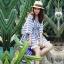 เสื้อแฟชั่น Boho Stripe wt Fringe Top thumbnail 1