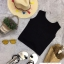 เสื้อแฟชั่น Single Pocket Twisted Back Sleeveless Crop thumbnail 8