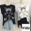 เสื้อแฟชั่น Avril Francais Sleeveless wt jewel Top thumbnail 3