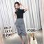 กระโปรงแฟชั่น Embellished Check Midi Skirt thumbnail 1