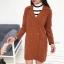 ชุดเซ็ทเสื้อคลุมเบลเซอร์ Set : Knit Long Blazer wt Stripe Knit Top thumbnail 9