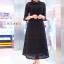 แมกซี่ลูกไม้ Dollita Embroidery Maxi Dress สีดำ thumbnail 1