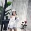 ชุดเซ็ทแฟชั่น Set : Korea Cut-Out Shoulder Two-Tone wt Shorts thumbnail 4