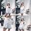 ชุดเซ็ทแฟชั่น Set : Korea Cut-Out Shoulder Two-Tone wt Shorts thumbnail 3