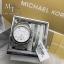 MICHAEL KORS Ladies Chronograph White Crystal Stainless Steel Watch MK5165 +Bracelet Set thumbnail 1