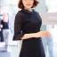 แมกซี่ลูกไม้ Dollita Embroidery Maxi Dress สีดำ thumbnail 3