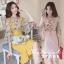 ชุดSet 2 ชิ้น เสื้อผ้าลายดอก สีชมพู thumbnail 8