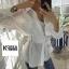 Korea Tie waist Shirt thumbnail 4